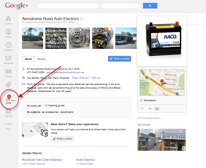 how to add places to google now