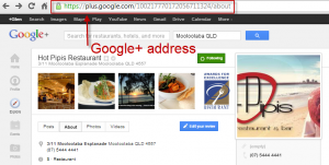 google-plus-page-address
