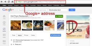 google-plus-page-address